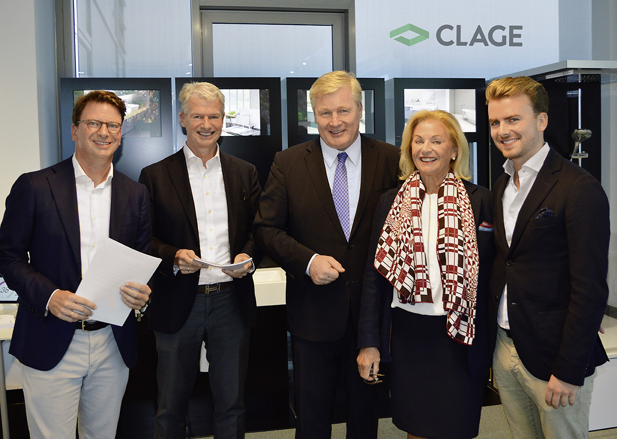 CLAGE invests in the expansion of its <nobr>headquarters</nobr> with the support of the State of <nobr>Lower Saxony</nobr> · 12. Oktober 2018