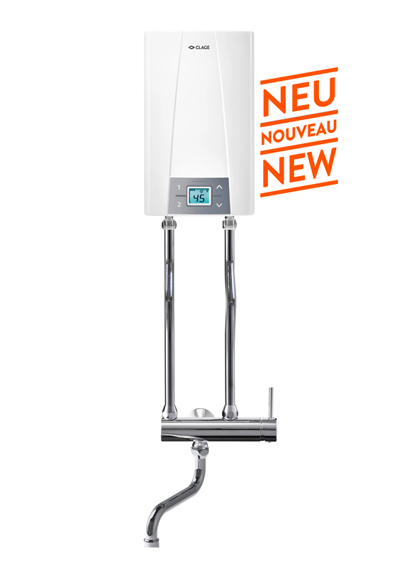 E-compact instant water heater with tap CEX / CSO