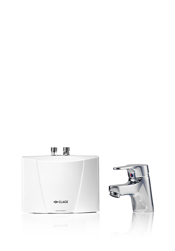 E-mini instant water heater with tap M / END