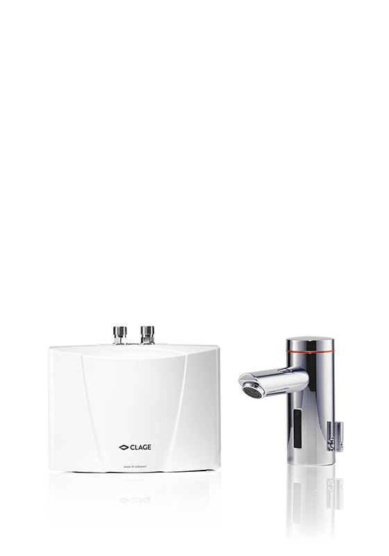 E-mini instant water heater with tap MBX Lumino